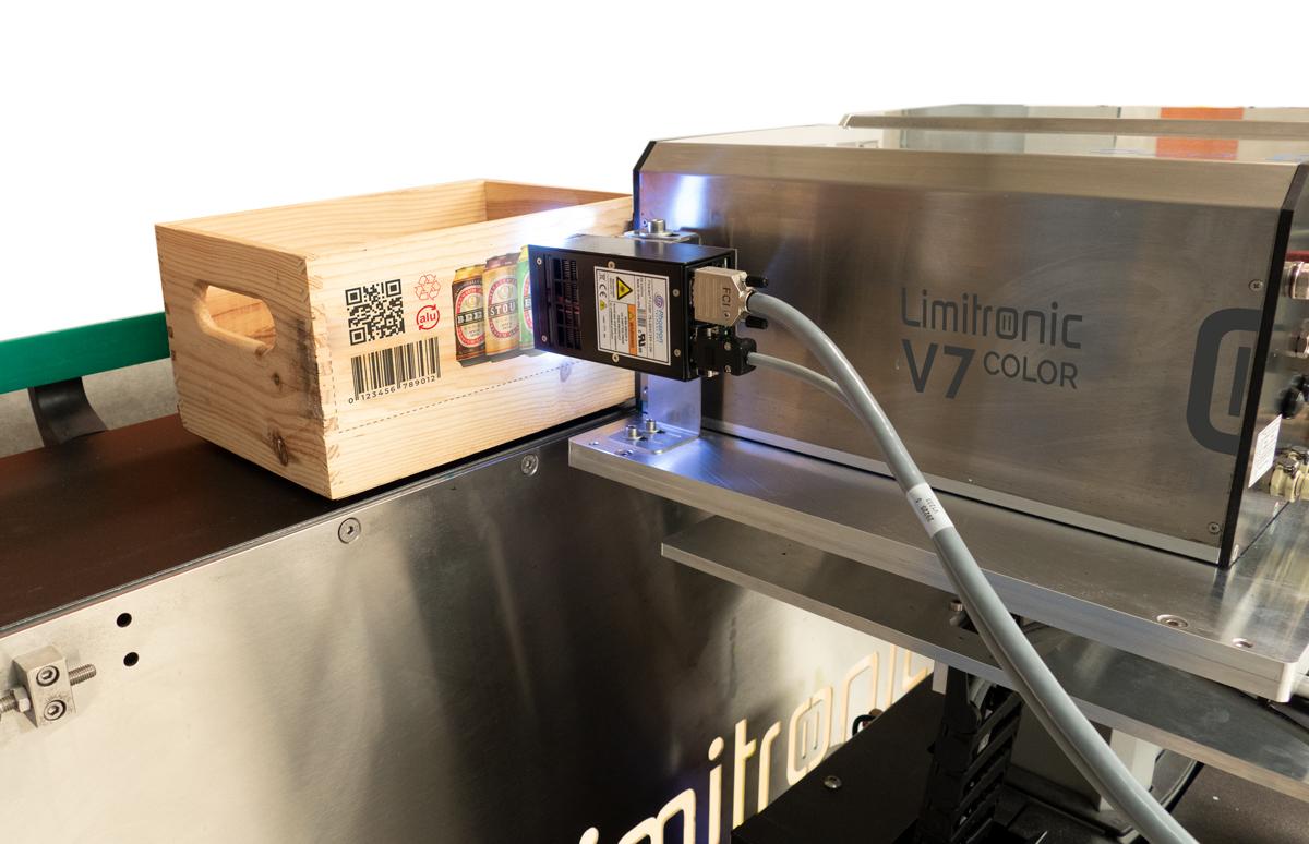 Codificación y marcaje sobre cajas de madera Limitronic