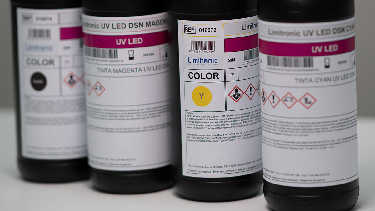 Tintas MOF Limitronic impresión digital industrial