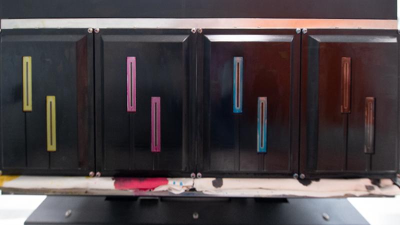 V6 color, cabezales de impresión
