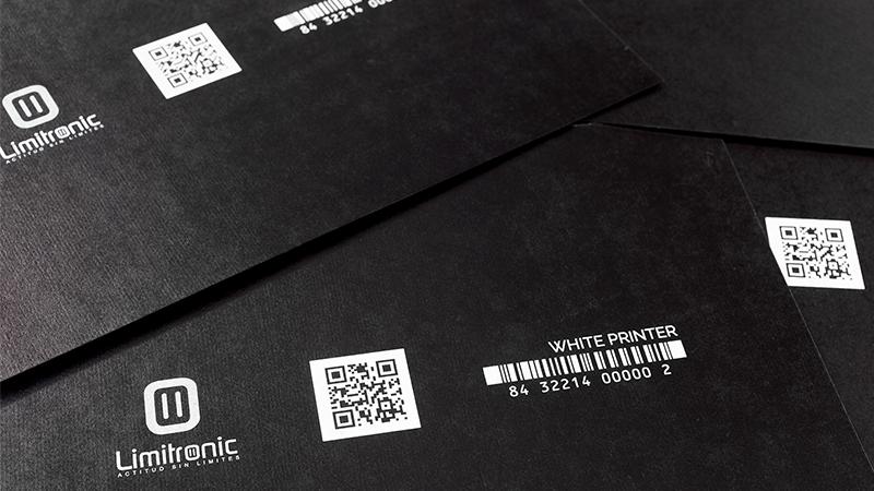 Impresión sobre plástico con tinta blanca
