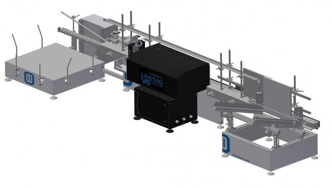 Sistema Impresión Vertical / Automated knockdown carton box hi-res printing system