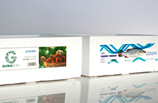 Industrial printing on EPS boxes